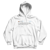 Kanye West make decision based on love not fear tweet on a white hoodie from Tee Tweets