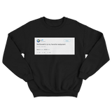 Kanye West McDonald's is my favorite restaurant tweet on a black crewneck sweater from Tee Tweets