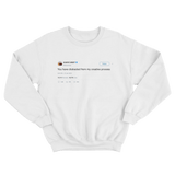 Kanye West you have distracted from my creative process tweet white crewneck sweater from Tee Tweets