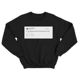 Kanye West not taking advice for rest of my life tweet on a black crewneck sweater from Tee Tweets