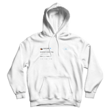 Kanye West question everything white tweet hoodie