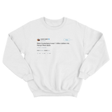 Kanye West asks Mark Zuckerberg to invest one billion dollars tweet white sweatshirt from Tee Tweets