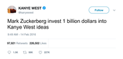 Kanye-West-Mark-Zuckerberg-invest-1-billion-dollars-into-kanye-west-ideas-tweet-tee-tweets