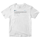 Kanye West revealing someone's true character tweet on a white t-shirt from Tee Tweets
