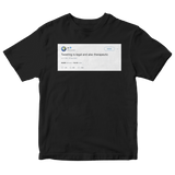 Kanye West tweeting is legal and therapeutic tweet on a black t-shirt from Tee Tweets