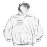 Kanye West yes I am rich tweet on a white hoodie from Tee Tweets