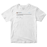Kanye West yes I am rich tweet on a white t-shirt from Tee Tweets