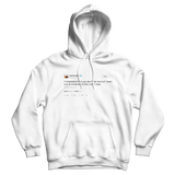 Kanye West I understand you dont like me but I need you to understand that I dont care white tweet hoodie