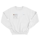 Kanye West I be taking naps white tweet sweater