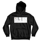 Kanye West I don't have to be cool tweet on a black hoodie from Tee Tweets