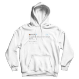 Kanye West Im not even gon lie to you I love me so much right now white tweet hoodie