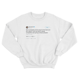 Kevin Durant let's go back to being competitive tweet on a white crewneck sweater from Tee Tweets