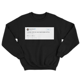Kevin Durant wonder who my new teammates will be tweet on a black crewneck sweater from Tee Tweets