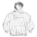 Kevin Durant I wanna play in Oklahoma City for my whole career white tweet hoodie