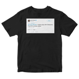 Kevin Durant want to play for OKC for my whole career tweet on a black t-shirt from Tee Tweets