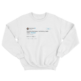 Kevin Durant Scarlett Johanneson will drink your bathwater tweet white sweatshirt from Tee Tweets