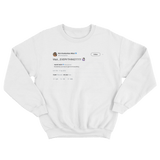 Kim Kardashian retweets Kanye West tweet getting rid of everything white sweater from Tee Tweets
