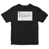Lady Gaga smashing keyboard random characters tweet on a black t-shirt from Tee Tweets