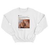 LeBron James Eminem Line in the Sand lyrics tweet on a white crewneck sweater from Tee Tweets