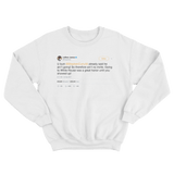 LeBron James calls Donald Trump a bum tweet on a white crewneck sweater from Tee Tweets
