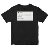 LeBron James calls Donald Trump a bum tweet on a black t-shirt from Tee Tweets
