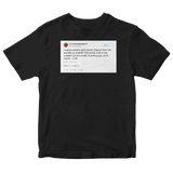 Lil B smelling booty cheese tweet on a black t-shirt from Tee Tweets