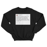 Lil B licked the booty tweet on a black crewneck sweater from Tee Tweets