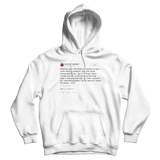 Lil B licked the booty tweet on a white hoodie from Tee Tweets