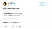 Lil Jon screaming YEAH tweet from Tee Tweets