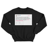 Lili Reinhart ate a pint of ice cream on Valentine's Day tweet on black sweater from Tee Tweets