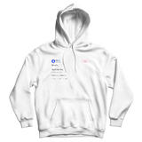 Mac Miller be you you'll be fine tweet on a white hoodie from Tee Tweets