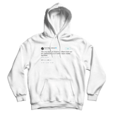 Magic Johnson captain obvious Heat and Spurs tweet on a white hoodie from Tee Tweets