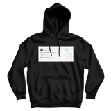 Martha Stewart do you think I am hip black tweet hoodie