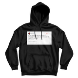 Netflix who hurt you tweet on a black hoodie from Tee Tweets