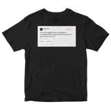 Netflix who hurt you tweet on a black t-shirt from Tee Tweets