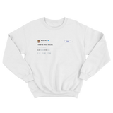 Nicki Minaj I wish a bitch would tweet on a white crewneck sweater from Tee Tweets