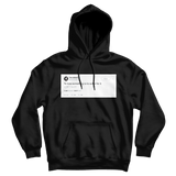 Nispey Hussle to love something is to suffer for it tweet on a black hoodie from Tee Tweets