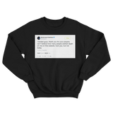 Post Malone can't believe how many wished death but not today tweet black sweater from Tee Tweets