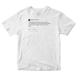 Post Malone can't believe how many wished death but not today tweet white t-shirt from Tee Tweets