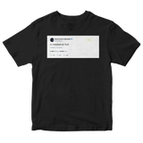 Post Malone is meatball an fruit tweet on a black t-shirt from Tee Tweets
