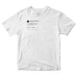 Post Malone is meatball an fruit tweet on a white t-shirt from Tee Tweets