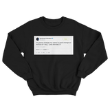 Post Malone changed name to Post Orange tweet on a black crewneck sweater from Tee Tweets