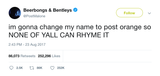Post Malone changed name to Post Orange tweet from Tee Tweets