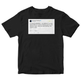 Post Malone campaign promise to stop lighter theft tweet on a black t-shirt from Tee Tweets