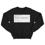 Post Malone you have to be ugly to have swag tweet on a black crewneck sweater from Tee Tweets