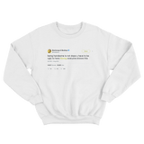 Post Malone you have to be ugly to have swag tweet on a white crewneck sweater from Tee Tweets