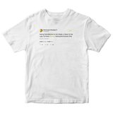 Post Malone you have to be ugly to have swag tweet on a white t-shirt from Tee Tweets