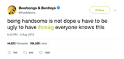 Post-Malone-being-handsome-is-not-dope-you-have-to-be-ugly-to-have-swag-everyone-knows-this-tweet-tee-tweets