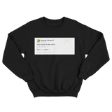 Post Malone who wants to day drink tweet on a black crewneck sweater from Tee Tweets