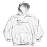 Rainn Wilson what did people do before cellphones tweet on a white hoodie from Tee Tweets